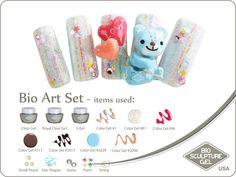 Teddy art set Bio Sculpture Nails, Sculpture Art, Bio Art, Gel Color, Nail Art Galleries, Star Shape, Nail Artist, Shapes, Art Gallery