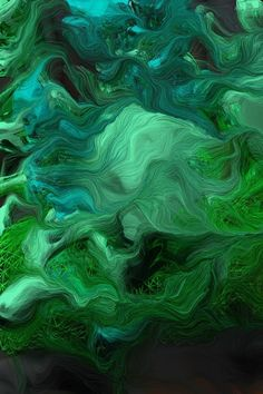 Brute Force Approach × Schwarm VII [Software] by Andreas Nicolas Fischer A Python script creates arr Dark Green Aesthetic, Aesthetic Colors, Green Art, Green Colors, Colours, Terra Verde, Organic Forms, Slytherin Aesthetic, Photocollage