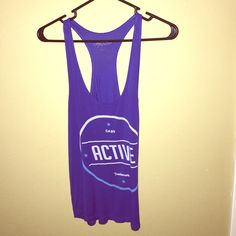"""*MUST GO* Blue """"ACTIVE"""" Top Blue top from ACTIVE. Racer back. Loose fitting. Active Tops Tank Tops"""