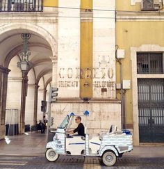 5 ways to Travel around Lisboa | via Travelling Book Junkies | 31/03/2015 If you have ever visited Lisbon you will know that the hills are steep, arduous climbs. So if you want to see the city without the strenuous efforts of walking check out our suggestions below. Photo: The Sardines Tuk-Tuk of Lisbon company Tuk On Me