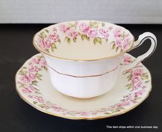 Royal Crown Adderley Bone China Tea Cup And Saucer Pink Rose Made in England by SeasonsWreathsPlus on Etsy Replacement Dishes, Dragon Incense Burner, English Pottery, Summer Door Wreaths, Silk Floral Arrangements, Silk Flower Bouquets, China Cups And Saucers, Bone China Tea Cups, Crown Royal