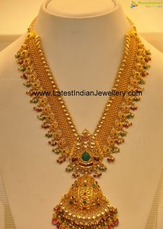 Heavy Gold Indian Bridal Haaram with Kundans. Can be used as Waist Chain too. | Latest Indian Jewellery Designs
