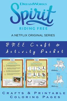 Spirit Riding Free Craft Activity Packet