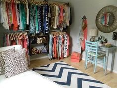 Real-Life Inspiration: Converting a Bedroom Into a Dressing Room   Apartment Therapy