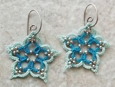Turquoise Flower Set       Another one done in Lizbeth, size 20, sea foam and turquoise.