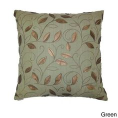 Atticus Decorative 24-inch Feather Filled Throw Pillow Atticus Green Throw Pillow