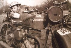 Despatch rider  BSA M20 and Lee Enfield .303