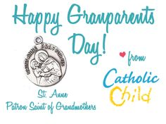 Celebrate the Grandparents in your life today! Happy Grandparents Day! http://www.catholicchild.com/ST-ANNE-MEDAL/productinfo/35000ANN/ #Catholic #GrandparentsDay #SaintAnne