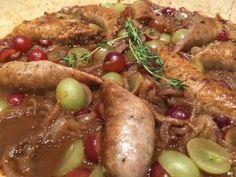 Grapes, Italian Sausages, & Polenta