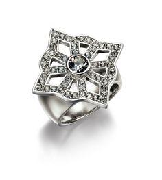 Allegory - Swarovski Elements Black Diamond Pave Ring