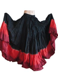 Black and Red 24 Yard Skirt