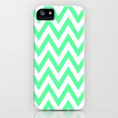 Green chevron iPhone case