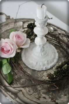VIBEKE DESIGN   -   so simple...nice old iron candlestick