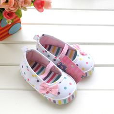 2015 all seasons dots white baby princess baby girls shoes baby child colorful bowknot detail below age 1 0 shoes prices in First Baby Products shoes on AliExpress.com | Alibaba Group