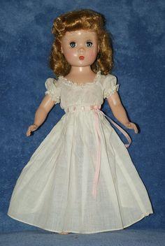 "Vintage 14"" Madame Alexander Maggie Hard Plastic Doll In Tagged Dress"