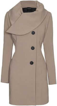 aa06738ae087d Tailored Coat with Big Collar - Lyst Abrigos