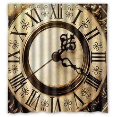 Custom Old Clock Pattern Print Home Decor Waterproof Bathroom Polyester Fabric Shower Curtain,66(w) x 72(h) Antique Clock Shower Curtain http://smile.amazon.com/dp/B00QJRKAM6/ref=cm_sw_r_pi_dp_Tos3vb09ZKC47