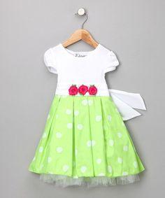 Look at this #zulilyfind! Sugar Plum Lime Erin Dress - Infant & Toddler #zulilyfinds