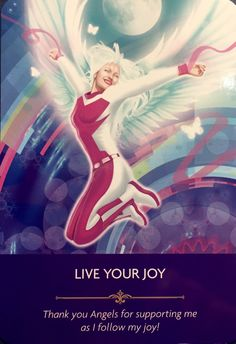 Live Your Joy Thank you Angels for supporting me as I follow my Joy! Angel Spirit, Spiritual Prayers, Angel Guidance, Angel Prayers, Oracle Tarot, Doreen Virtue, Divine Mother, Angel Cards, Card Reading