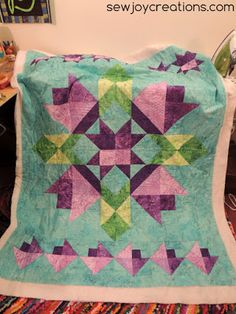 Free quilt pattern from Sew Joy Creations