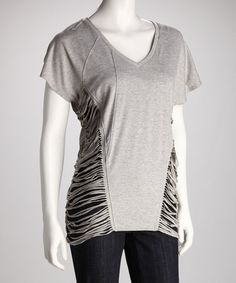 Take a look at this Gray Frayed Top by Boundary & Co. on #zulily today!