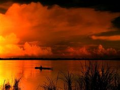 Orange smoke…