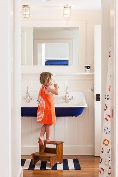 royal blue kids bathroom