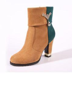 Zapatos Botas Botas al tobillo Tacón ancho Ante