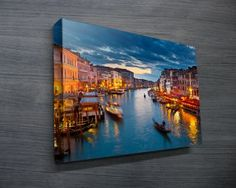 VENICE $26.00–$741.00 Canvas art print of the sinking city – Venice. This wall art is made in Australia using premium quality materials, all art is delivered ready to hang straight on the wall. #banksyprints  #canvascollage