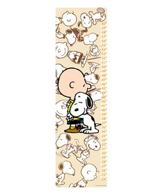 Take a look at this Peanuts Snoopy & Charlie Brown Canvas Growth Chart today!
