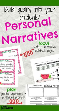 I got so sick of reading personal narratives that ended up being nothing more than a list. Despite spending time talking about small moments, my students just weren't focusing in on their personal narratives. Through modeled practice, task cards, sorts, organizers and scaffolded prompts I was able to build better personal narratives...which was great for my students and even better for me when I had to read 22 of them!