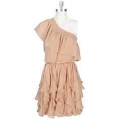Jessica Simpson One-Shoulder Ruffle Dress at Von Maur.