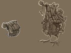BabaJaga concepts, Oleg Yurkov on ArtStation at https://www.artstation.com/artwork/d4lL1