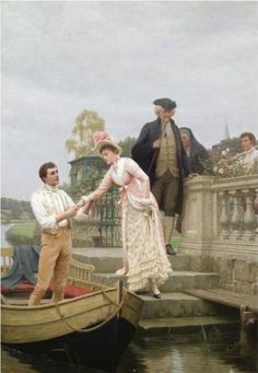 Edmund Blair Leighton sweet solitude | Lay thy sweet hand in mine and trust in me
