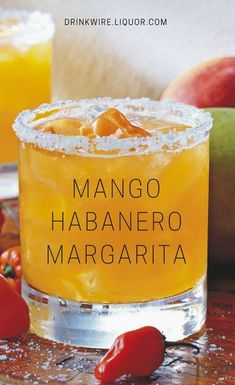 Add some spice to your fiesta with a Mango Habanero Margarita. The two-story flagship from Tommy Bahama Restaurant & Bar in NYC serves this cocktail to get the party started! Fragrant Cocktail Recipes and Inspiration For Karen Gilbert Bar Drinks, Cocktail Drinks, Cocktail Recipes, Beverages, Tequila Drinks, Fancy Drinks, Mezcal Cocktails, National Margarita Day, Margarita Recipes