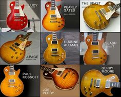 A nice gallery of some the finest and most historic Les Pauls ever played. I know the guitar stories behind many of these beauties but would love to hear anyone's insights or stories...or even which one is your favorite and why?