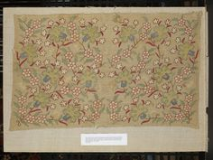 Place of origin: Turkey (made)  Date: 1700-1799 (made)  Artist/Maker: Unknown (production)  Materials and Techniques: Linen, embroidered with silk in double running in steps and double running variations.