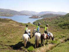 Go horseback riding in Scotland.
