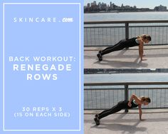In the final part of our full body workout series with person trainer, Brianna Sky from BSKYFITNESS, we share two beginner level back exercises that can improve your posture and tighten and tone your back muscles. From renegade rows to alternating superman, we share how to get bikini body ready with our back workout guide, here. | Powered by L'Oréal
