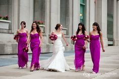 magenta bridesmaid dresses (but maybe a lighter and pinker shade) Magenta Bridesmaid Dresses, Wedding Bridesmaid Dresses, Wedding Attire, Magenta Dresses, Bridesmaid Color, Wedding Entourage, Fuschia Wedding, Wedding Colors, Sister Wedding