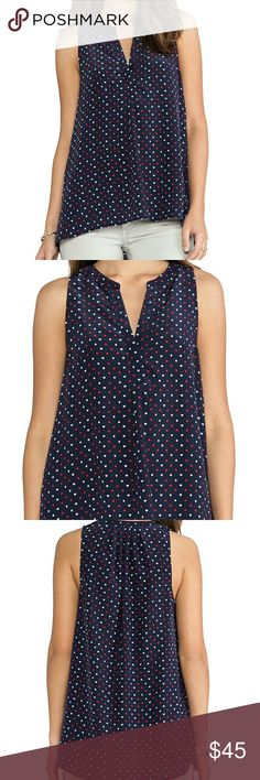 Joie Aruna Tank in Dark Navy Very new condition.  Joie's Aruna silk tank for a whimsical win, dealing out a playing cards print atop sumptuous silk. Silk. Dry clean. Imported. Joie Tops Tank Tops