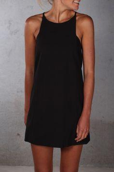 Hallie May Dress Black $59