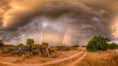 nature lightning rainbow hd free download wallpapers