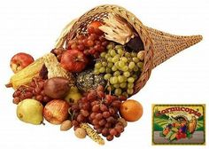 Cornucopia - symbol of Thanksgiving, our national holiday. It was, and still is, a day of taking stock of our blessings and giving thanks to family, friends and God for all we have.