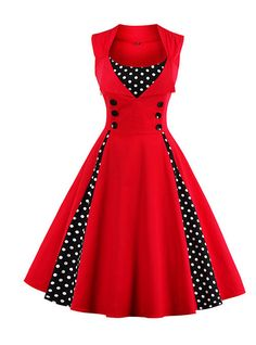 Women Robe Retro Vintage Dress Rockabilly Dot Swing Pin Up Summer Party Dresses Elegant Tunic Vestidos Casual Size S Color Sky blue Robes Vintage, Retro Vintage Dresses, Vestidos Vintage, Retro Dress, Vintage Outfits, Vintage Fashion, Vintage Prom, 1950s Dresses, Vintage Womens Clothing