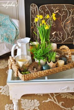 Sophia's: Adding Touches of Spring to the Living Room