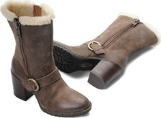 Born Womens Rhoslyn in Antracite Shearling