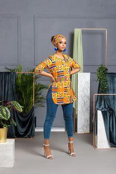 African Print Shalla Top