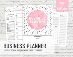 Business Planner Letter and Half Size by PaperMousePlanners