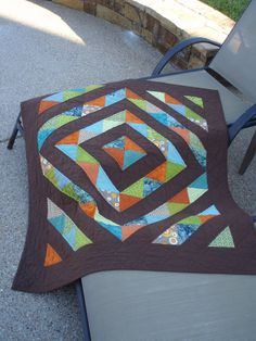 https://flic.kr/p/8KeabF | Forest Oct2010 03 | Halfsquare Triange Quilt for my…